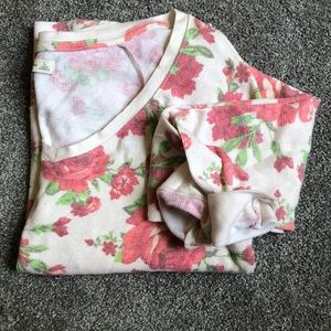 Abercrombie & Fitch rose colored flowery tunic